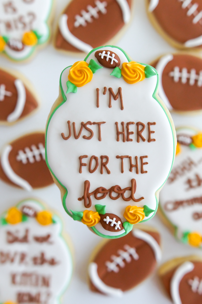 I'm just here for the food: super bowl cookies