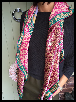 CHarm Churi Silk Scarf, My Midlife Fashion