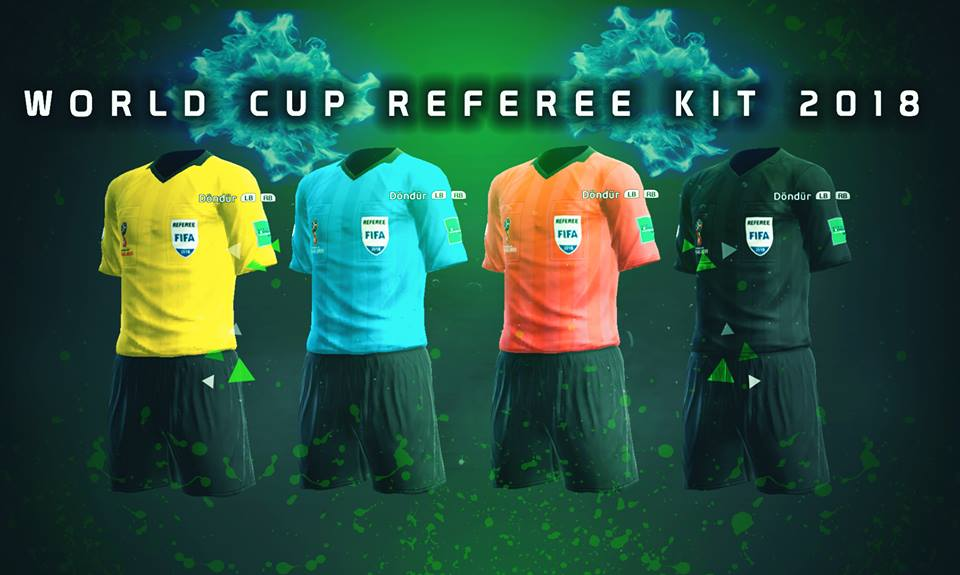 PES2013 World Cup Referee Kits 2018 by (M4rcelo+AbdDlsz)