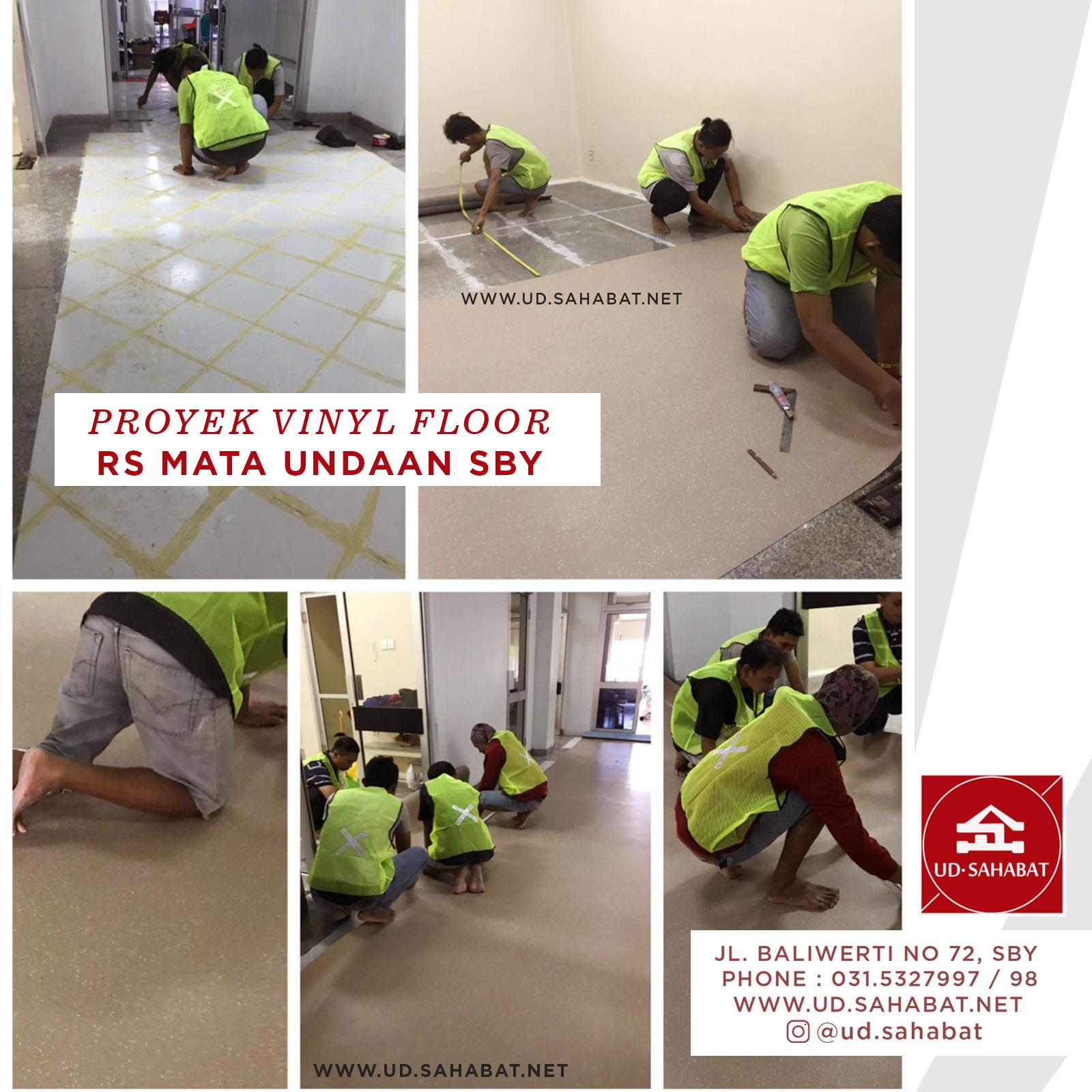jual lantai vinyl flooring rumah sakit UD SAHABAT SURABAYA