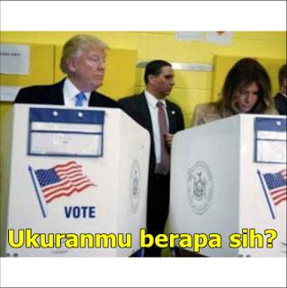 Meme Donald Trump Jadi Presiden Ukuranmu Berapa Sih