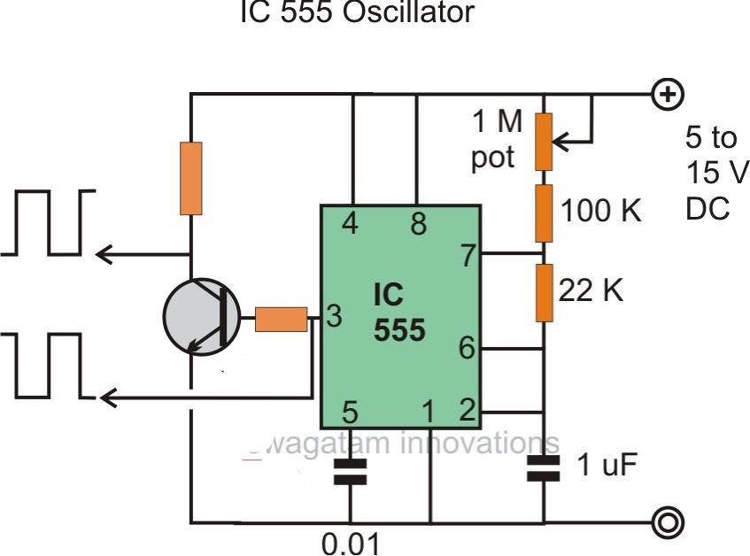 12v Power Inverter Circuit Using 555 Timer