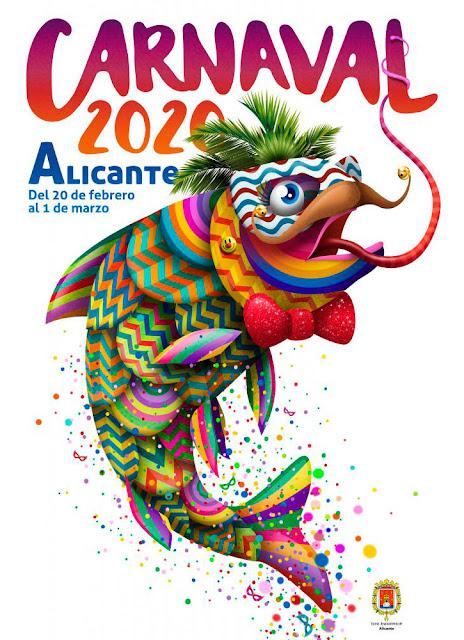 Atractivo cartel de Carnaval