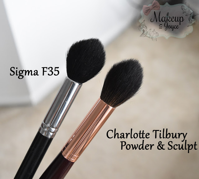 Charlotte Tilbury Powder & Sculpt Brush vs Sigma F35