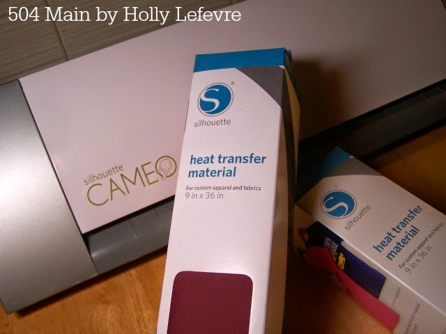 A silhouette Cameo and heat transfer material