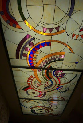 stained glass panels for false ceiling designs