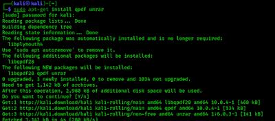 installing qpdf and unrar