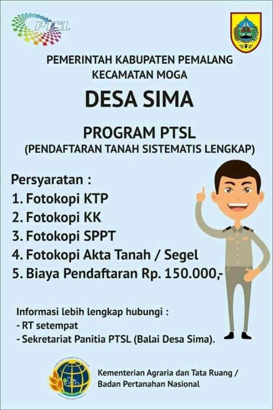 Pemdes Sima Buka Lagi Program PTSL 2021