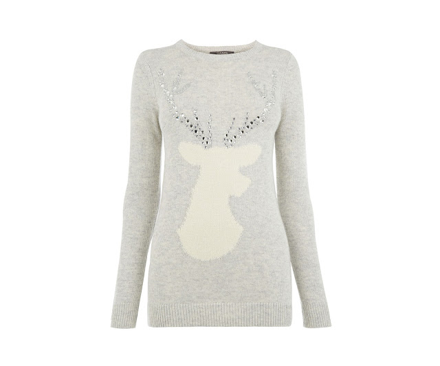 oasis stag jumper, stag christmas jumper,