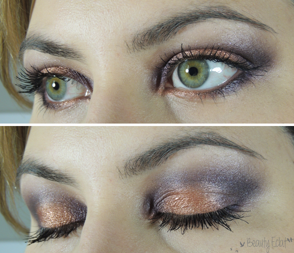 maquillage violet peche tutoriel