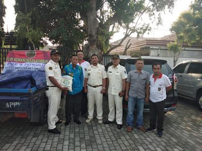 Wali kota Metro Lepas Bantuan Beras Purna Paskibraka Indonesia (PPI) Kota Metro ke Palu dan Donggala