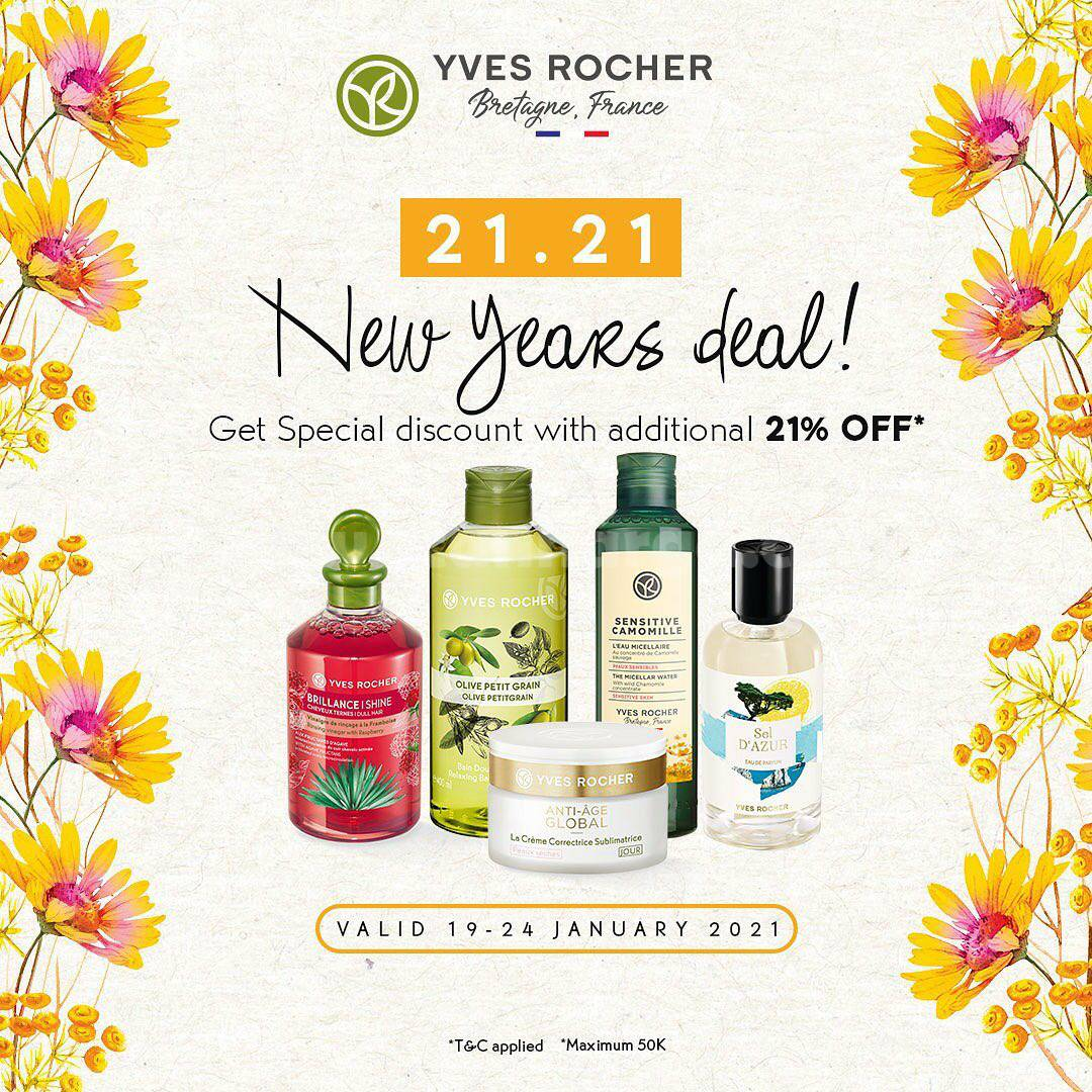 Yves Rocher New Years Deal Get Special Disc. With Additional 21% Off