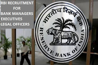 RBI Recruitment vacancy for Banking Manager Legal Officers and Executives