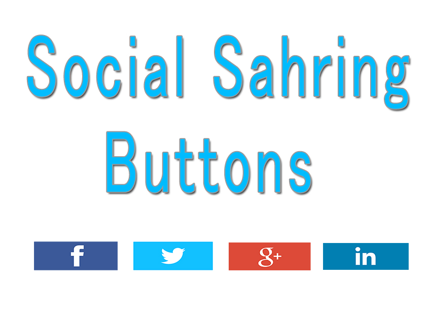 social sharing gadgets for blogger