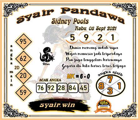 Syair Pandawa Sydney Rabu 08 September 2021