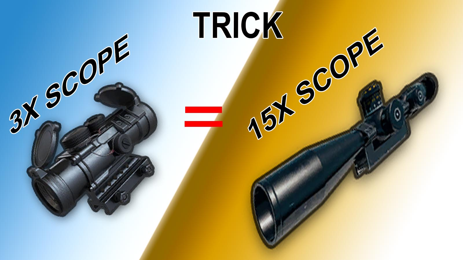 PUBG Mobile:convert 3x scope into 15x scope by new trick
