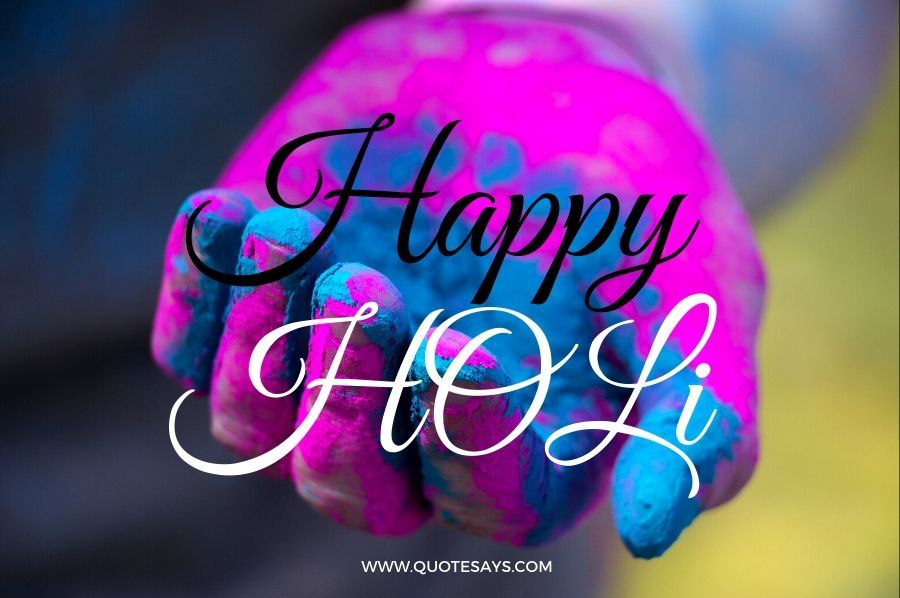 Happy Holi Colors on hand