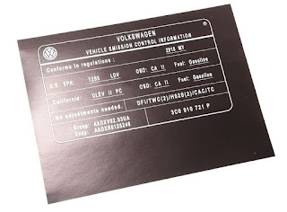 VIN stickers