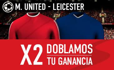 sportium dobla ganancias M.United vs Leicester 1 mayo