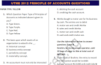 UTME/JAMB 2012 PRINCIPLE OF ACCOUNT QUESTIONS