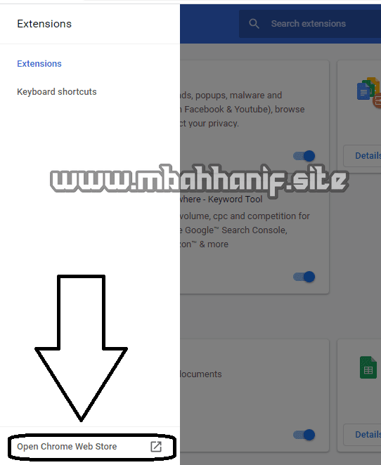 Open Chrome Web Store