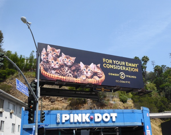 For Your Emmy Consideration kittens Comedy Central billboard