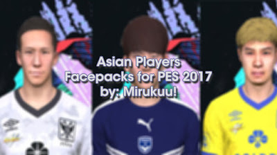 PES 2017 Asian Players Facepack by Mirukuu