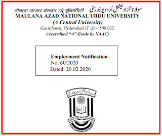 MANUU LDC/ Assistant Previous Question Papers and Syllabus 2020-Hyderabad