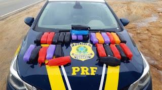 PRF apreende 15 kg de cocaína em Guanambi