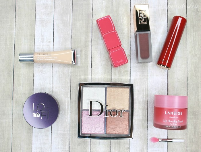 dior backstage glow palette urban decay lo-fi lip mousse laneige lip sleeping mask clinique beyond perfecting concealer guerlain kisskiss colours of kisses lancome camilla coelho