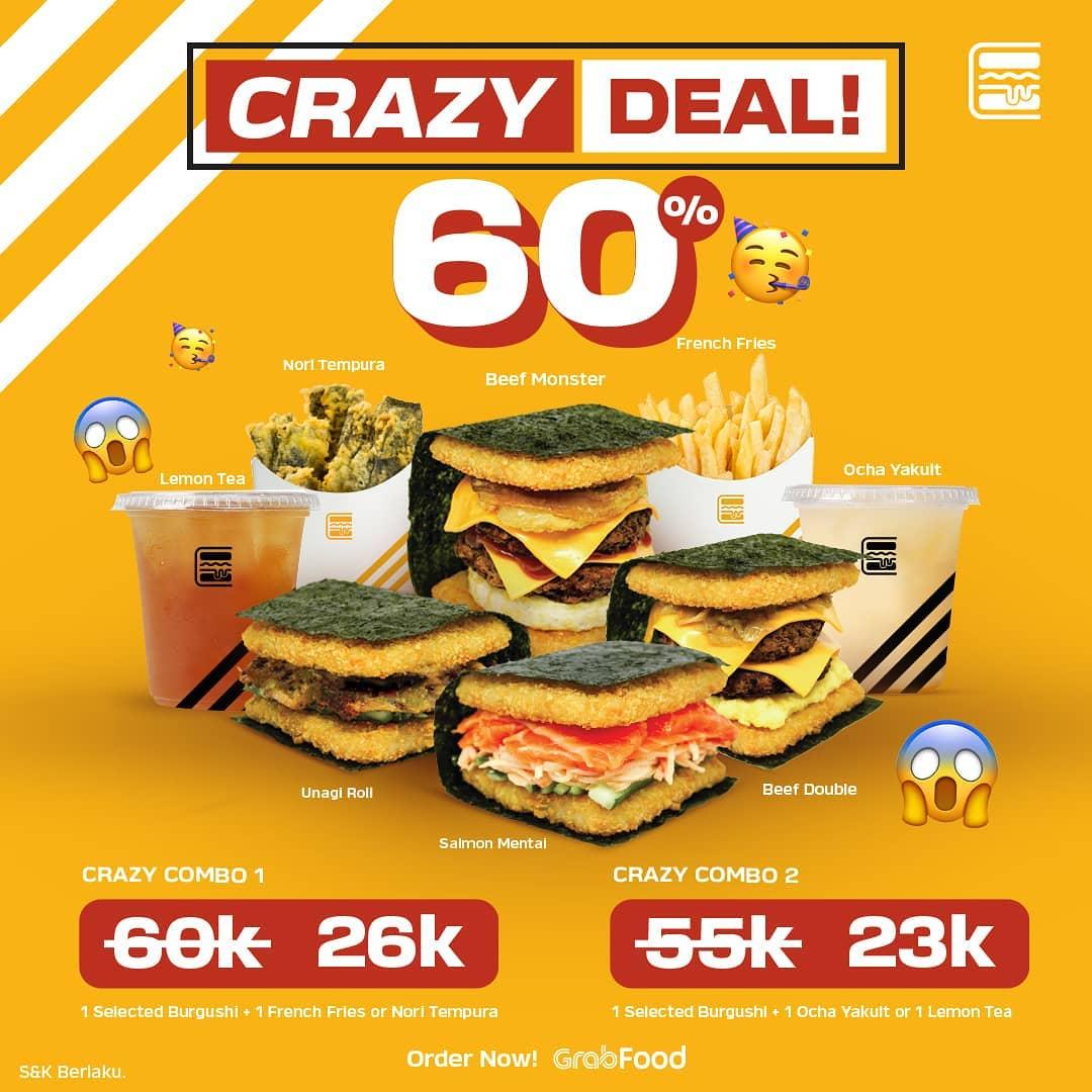 Promo Burgushi Crazy Deal 60% - Diskon Paket Crazy Combo