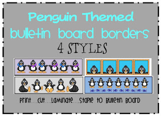 penguins themed bulletin board border