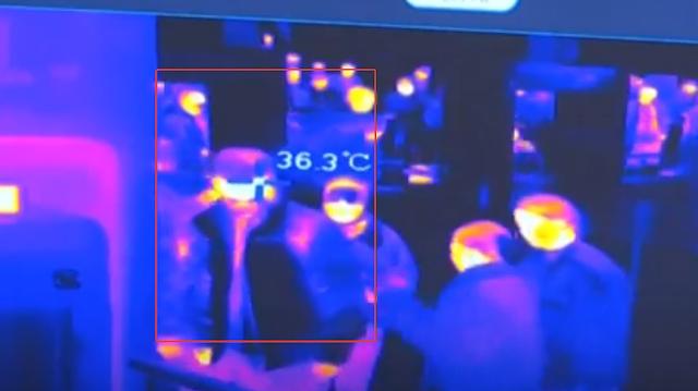 Сканирование в тепловизором в аэропортах