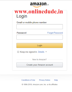 Amazon Affiliate login page