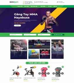 Template blogspot bán hàng dụng cụ phụ kiện thể thao