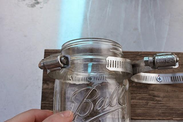 DIY // MASON JAR ORGANIZER - Oh So Lovely Blog