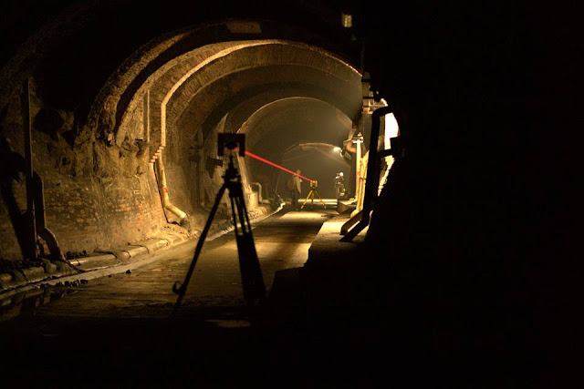 Bologna underground topographic surveying