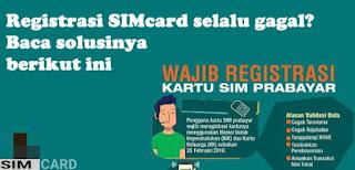 Cara mengatasi registrasi ulang kartu prabayar yang selalu gagal