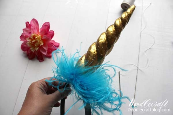 Floracraft Styrofoam Unicorn Horn Headband DIY!