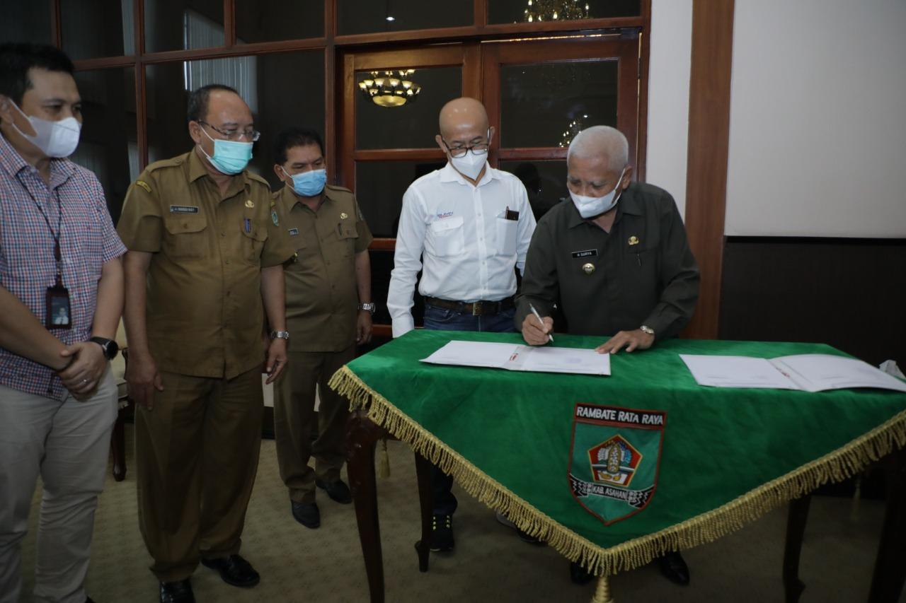 Bupati Asahan Terima Audensi dan Menandatangani Persetujuan Dokumen RTD PT Inalum (Persero)