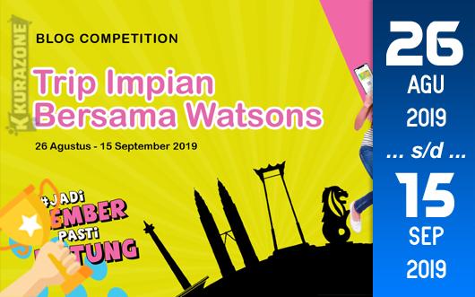 Kompetisi Blog - Watson Berhadiah Tour ke Thailand + Voucher