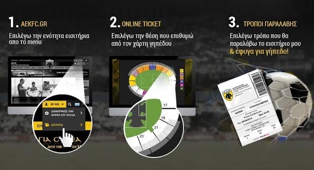 Τιμές και τρόποι διάθεσης των εισιτηρίων της αναμέτρησης ΑΕΚ - Ηρακλής