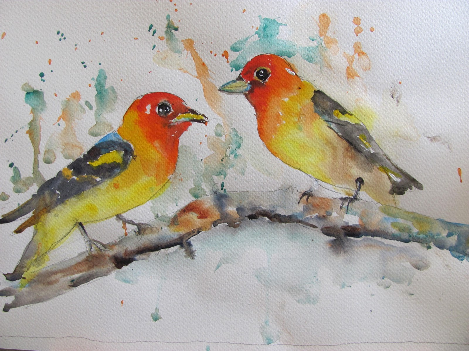 The Watercolour Log More Bird Paintings