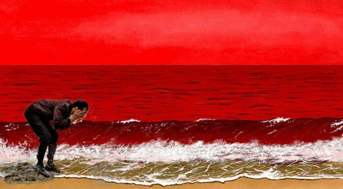 Usai Lukisan Laut Biru SBY, Kini Muncul Lukisan Laut Merah Jokowi, Netizen: Cuci Muka Pakai Darah Rakyat!