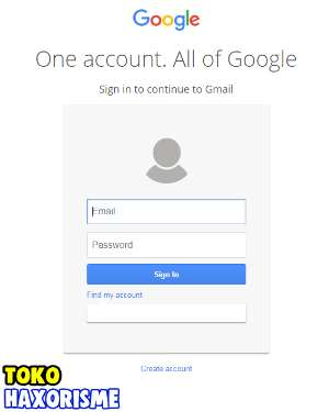 Web Phising Gmail Fake Login