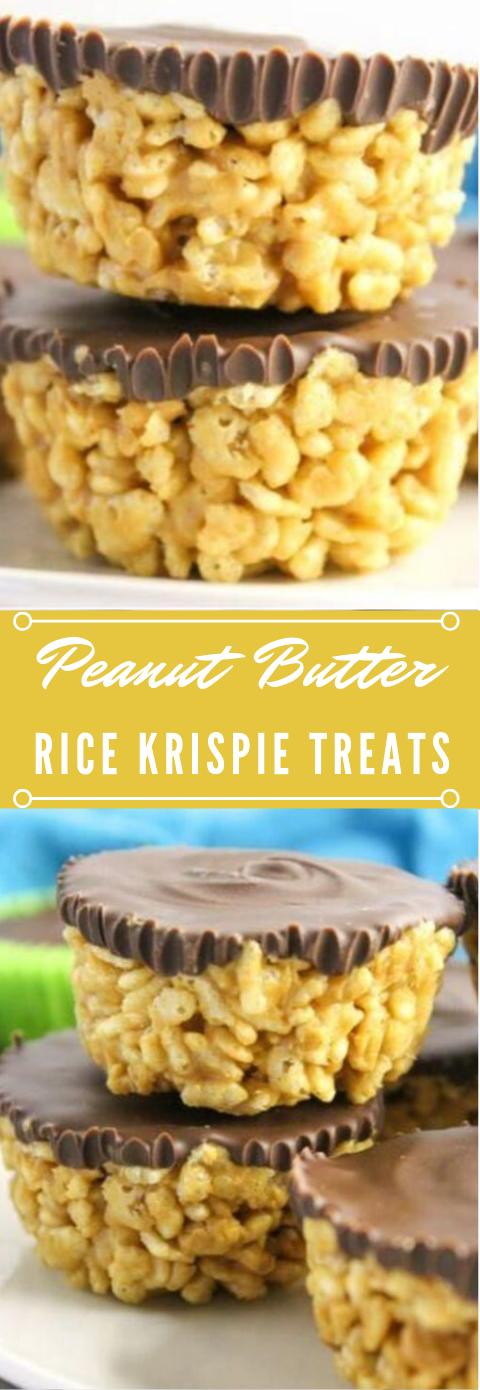 PEANUT BUTTER RICE KRISPIES TREATS #peanut #healthydiet #paleo #easy #desserts