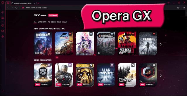 Opera GX اول متصفح مخصص للالعاب قم بتحميله الان واستمتع بخصائصه