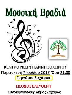 """Μουσική Βραδιά από την """"Παιδική Ορχήστρα"""" του Μουσικού Εργαστηρίου Γιαννιτσοχωρίου"""