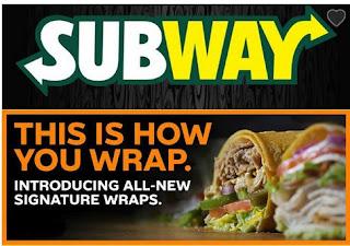 Subway Menu Offers April 17 - July 4, 2018