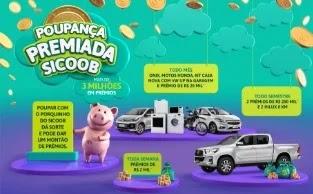 Promoção Poupança Premiada 2020 Sicoob - Poupe e Concorra Prêmios
